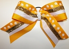 Paw Print Yellow Gold Big Cheer Bow