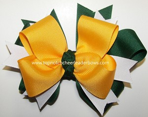 Green Yellow Gold Cheer Ponytail Holder 2343036db17