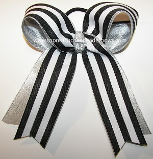 Awareness Stripes Ponytail Holder Hair Bow