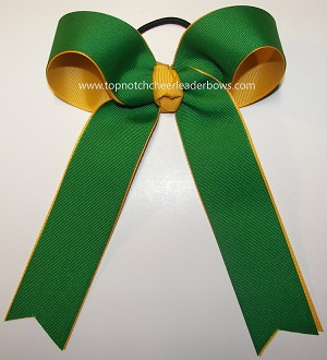Emerald Green Yellow Gold Ponytail Bow