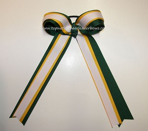 Green Yellow Gold White Extra Long Streamers Bow
