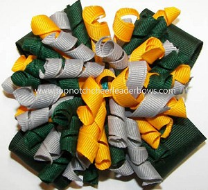 Korkers Green Gray Yellow Gold Cheer Bow