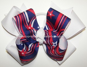 Patriotic Ponytail Holder Cheer Bow