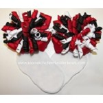 Korkers Red Black White Girls Bow Socks