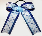 Hanukkah Sparkly Blue White Ponytail Bow